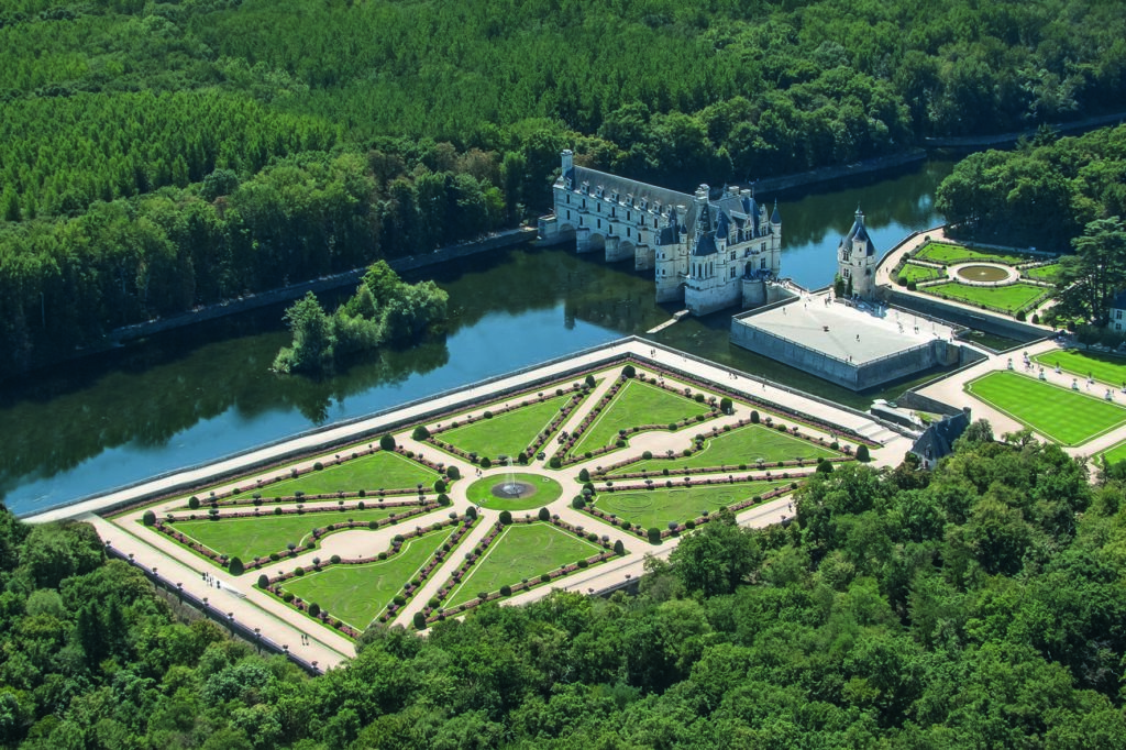 ©Marc Jauneaud - Vue jardin de Diane de Poitiers